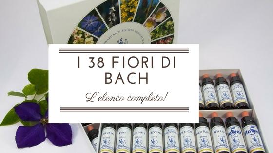 schede 38 fiori di bach
